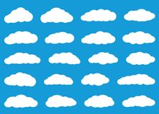 Białe mieszkanie chmury ilustracji