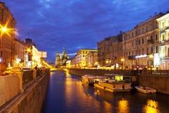 Białe noce, Petersburg, Rosja Zdjęcia Stock