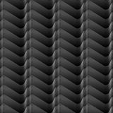 Białe ocienione Bezszwowe gradientowe linie machają bezszwowego geometrical wzór na czarnym tle Zdjęcia Stock