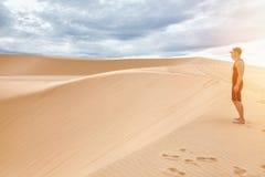 Białe piasek diuny w Mui Ne, Wietnam zdjęcie stock