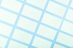 Białe Puste wizytówki Na Błękitnym tle Z Papierową teksturą Obraz Royalty Free