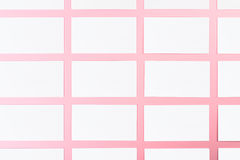Białe Puste wizytówki Na Różowym tle Z Papierową teksturą Obraz Royalty Free