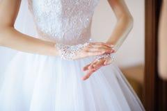 białe rękawiczki Fotografia Royalty Free