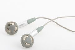 białe słuchawki Fotografia Royalty Free