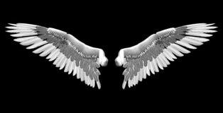 białe skrzydła royalty ilustracja