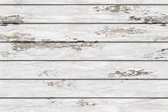 Białe stare deski z podławą farbą zdjęcie royalty free