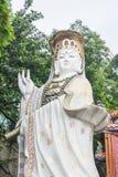 Białe statuy Kwun ignam przy Kwun ignamu świątynią, Hong Kong Zdjęcie Stock