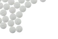 białe tabletki Zdjęcie Stock