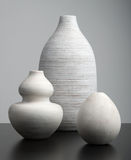 Białe wazy Obraz Stock