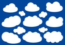 Białe wektor chmury ilustracji