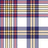 Białego błękitnego piksla czeka szkockiej kraty bezszwowy wzór Zdjęcia Royalty Free