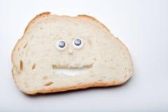 Białego chleba twarzy ilości pracowniany światło Obraz Stock