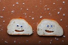 Białego chleba twarzy ilości pracowniany światło Obraz Royalty Free