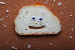 Białego chleba twarzy ilości pracowniany światło Obrazy Stock