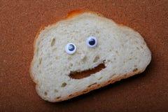 Białego chleba twarzy ilości pracowniany światło Zdjęcie Stock