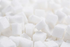 Białego cukieru sześciany (folujący ramowy wizerunek) Obrazy Royalty Free