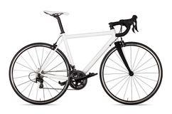 białego czarnego bieżnego sporta drogowego roweru rowerowy setkarz odizolowywający fotografia stock