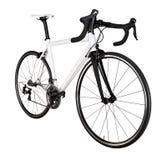 białego czarnego bieżnego sporta drogowego roweru rowerowy setkarz odizolowywający obraz stock