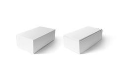 Białego kartonowego telefonu pudełka ustalony mockup, boczny widok, ścinek ścieżka Obraz Stock