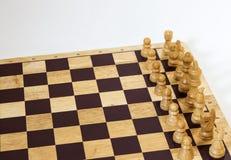 Białego kawałka Szachowa gra Obraz Royalty Free