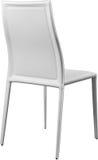 Białego koloru biurowy rzemienny krzesło Nowożytny projektanta krzesło dla wnętrza Odizolowywający na bielu Zdjęcie Stock