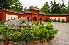 Białego konia świątynia zdjęcia royalty free