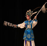 """Białego konia srebra pistoletu Pekin Opera"""" kobiet generałowie Yang Family† Zdjęcia Stock"""