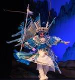 """Białego konia srebra pistoletu Pekin Opera"""" kobiet generałowie Yang Family† Zdjęcia Royalty Free"""