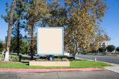 Białego kwadrata signboard zdjęcia royalty free