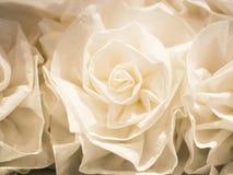Białego kwiatu tkaniny rzemiosła tekstury tło zdjęcie stock