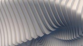 Białego lampasa wzoru futurystyczny tło ilustracja 3 d, Zdjęcie Stock