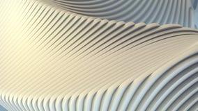 Białego lampasa wzoru futurystyczny tło ilustracja 3 d, Obrazy Stock