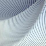 Białego lampasa wzoru futurystyczny tło ilustracja 3 d, Fotografia Stock