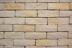 Białego lub Lekkiego koloru cegły jako prosty tło Zdjęcia Royalty Free
