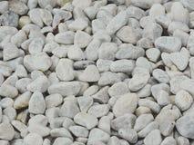Białego morza kamienie jako tło - tekstura Obraz Stock