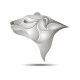 Białego niedźwiedzia głowy profilu logo projekta ilustraci zapasu use wektor twój Zdjęcie Royalty Free