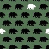 Białego niedźwiedzia i grizzly bezszwowy wzór ilustracja wektor