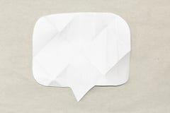 Białego papieru bąbel na szarym tle zdjęcie stock