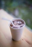 Białego papieru filiżanka kawy Zdjęcie Stock