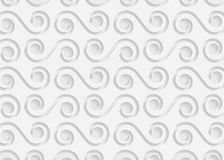 Białego papieru geometryczny wzór, abstrakcjonistyczny tło szablon dla strony internetowej, sztandar, wizytówka, zaproszenie Zdjęcie Royalty Free