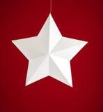 Białego papieru gwiazda Fotografia Stock