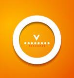 Białego papieru okrąg na pomarańczowym tle Obraz Royalty Free