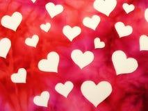 Białego papieru serc wzór Fotografia Royalty Free