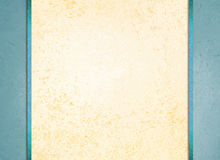 Białego papieru tło z błękita rabatowego i błękitnego faborku lampasami Obraz Royalty Free