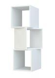 Białego pudełka półki 3d rendering na biały tle Zdjęcie Royalty Free