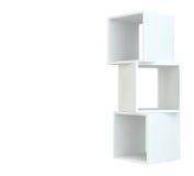 Białego pudełka półki 3d rendering na biały tle Obraz Royalty Free