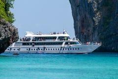 Białego rejsu pasażerski statek Zdjęcia Royalty Free