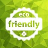 Białego wektorowego eco życzliwy znaczek Fotografia Royalty Free