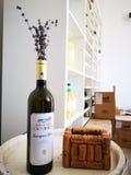 Białego wina Sauvignon blanc domena Ciumbrud zdjęcie stock