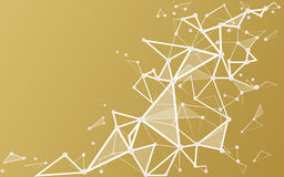 Białego złota tło z łączyć kropkuje i wykłada royalty ilustracja